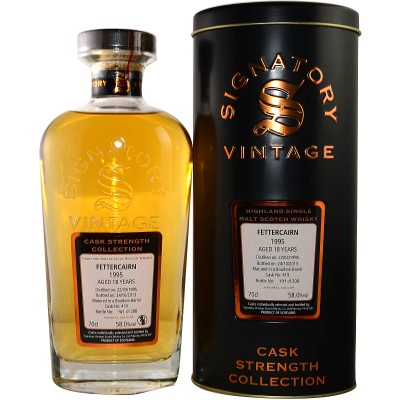 Fettercairn 1995/2015 - Cask No. 421/422 (Bourbon Barrel) - (Signatory Cask Strength)