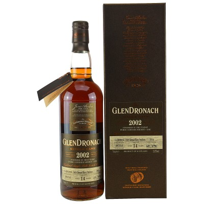 Glendronach 2002/2016 Single Cask No. 1504  PX Sherry Puncheon Batch # 14