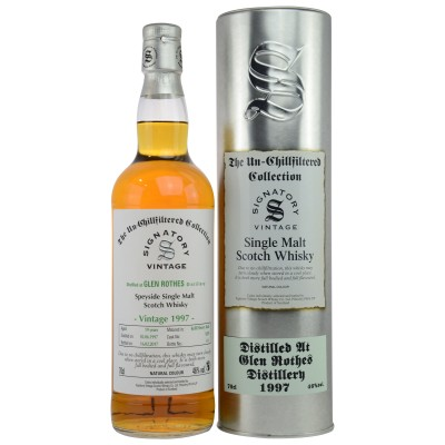 Glenrothes 1997/2017 - Cask No. 9259 (Refill Sherry Butt) - (Signatory Un-Chillfiltered)