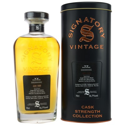 Isle of Jura 1989/2017 Heavily Peated Cask 30741+42 (Signatory Cask Strength Collection)