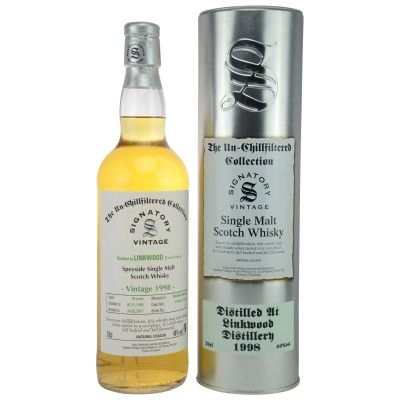 Linkwood 1998/2017 - Cask No. 11784/85 (Bourbon B.) - (Signatory Un-Chillfiltered)