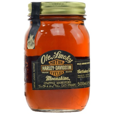 Ole Smoky Tennessee Moonshine Charred - Harley-Davidson Road House Customs 103 Proof