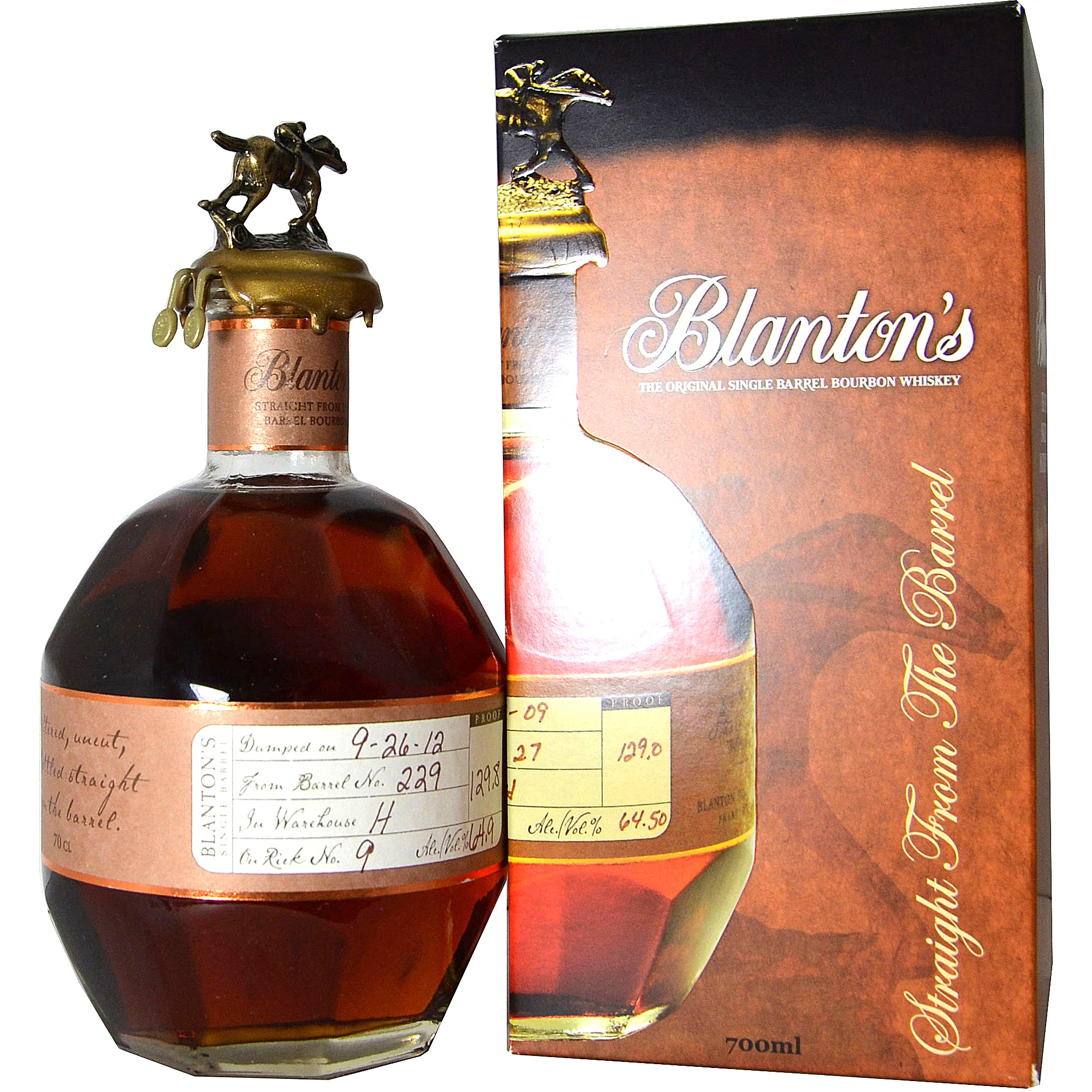 Blantons Straight from the Barrel (USA: Bourbon)