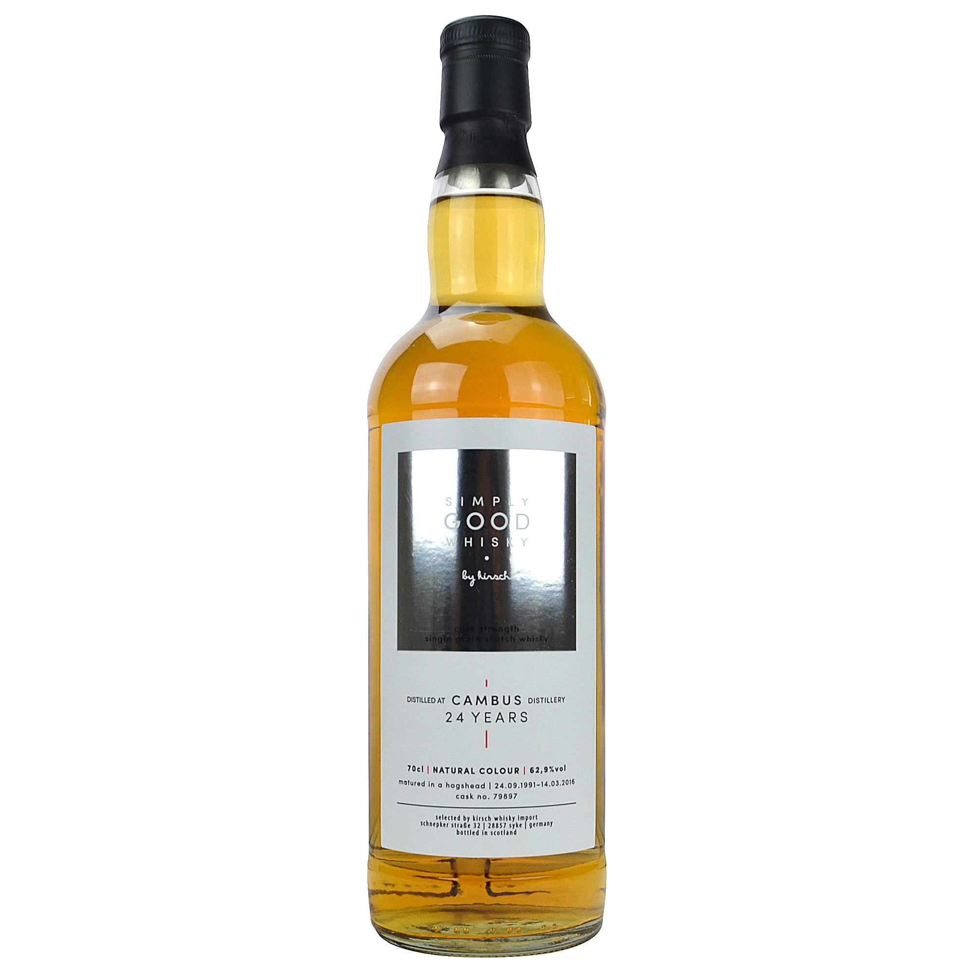 Cambus 1991/2016 Cask Strength 24 Jahre (Simply Good Whisky)