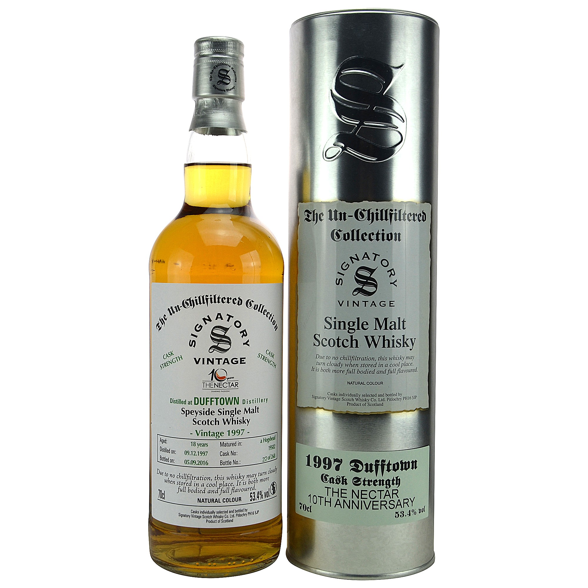 Dufftown 1997/2016 18 Jahre Single Cask No. 19502 (Signatory Un-Chillfiltered)
