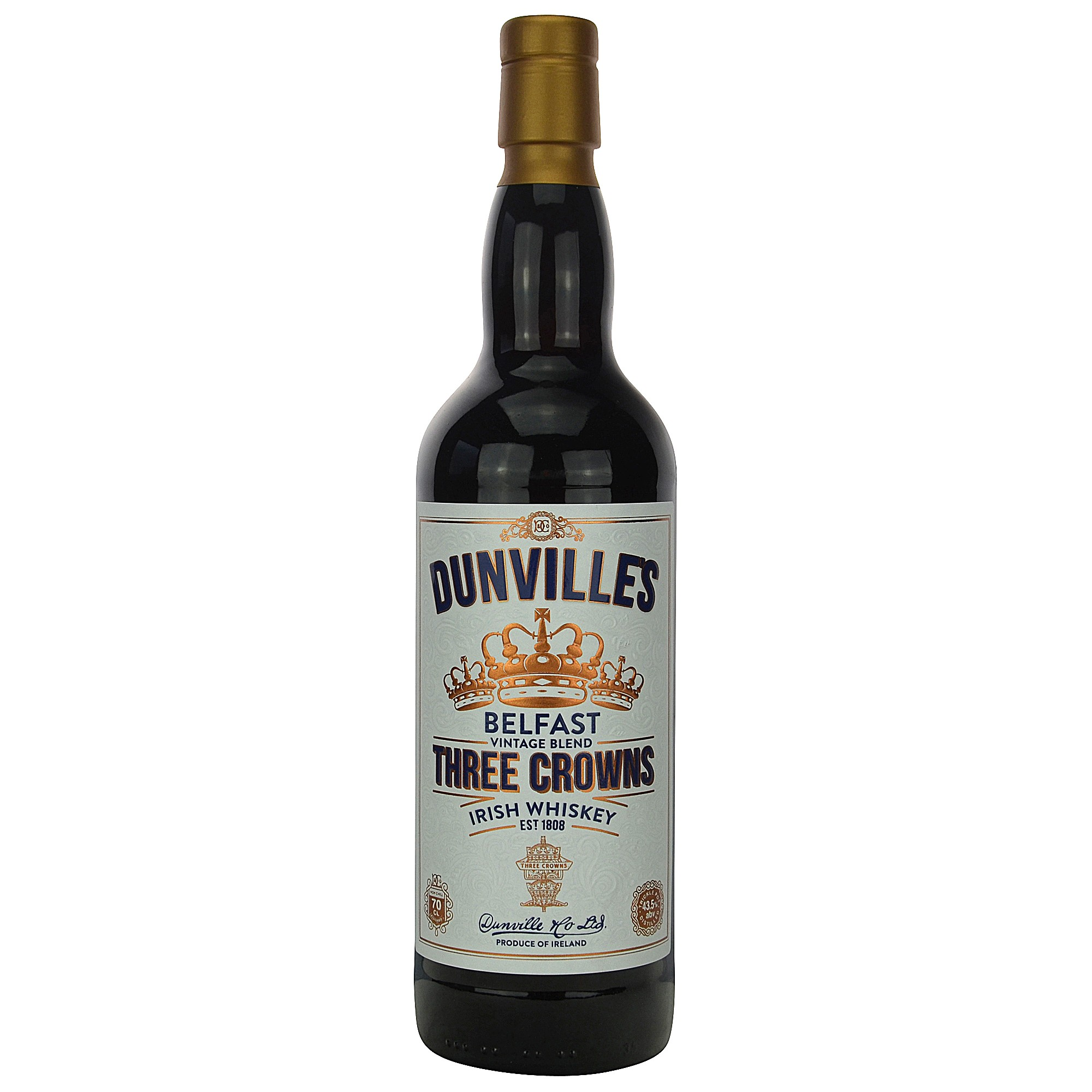 Dunville's Vintage Blend Three Corwns Blended Whiskey (Irland)