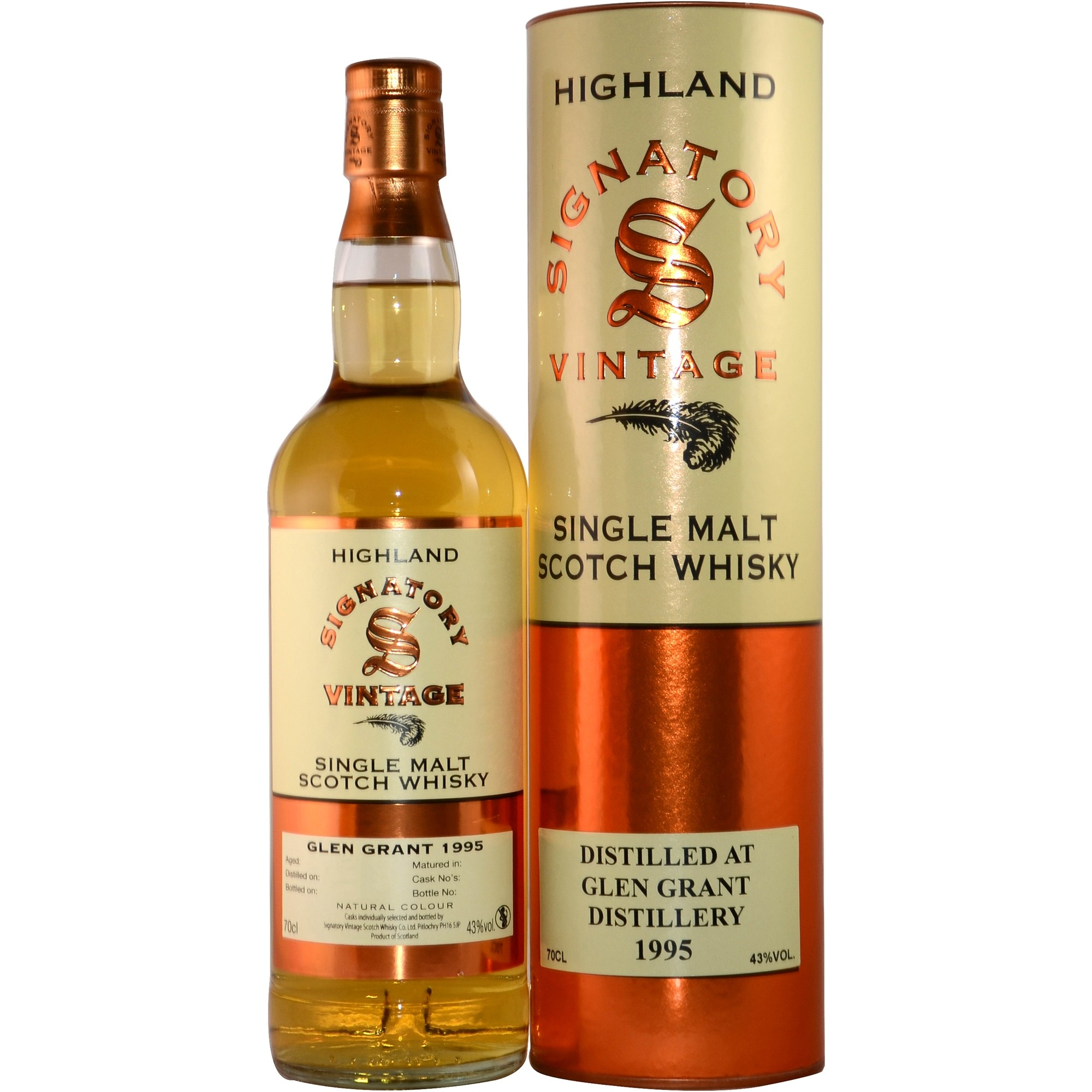 Glen Grant 1995/2016 - Cask No.  88204 + 88205 (B. Barrel) - (Signatory)