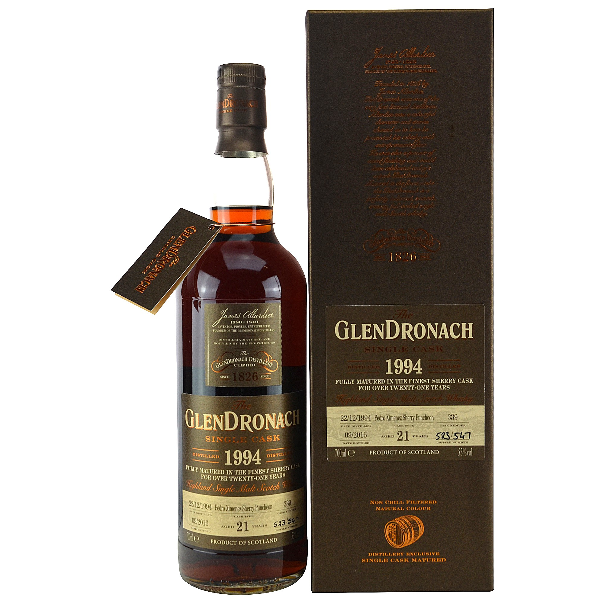 Glendronach 1994/2016 Single Cask No.339 Pedro Ximenez Sherry Puncheon Batch #14