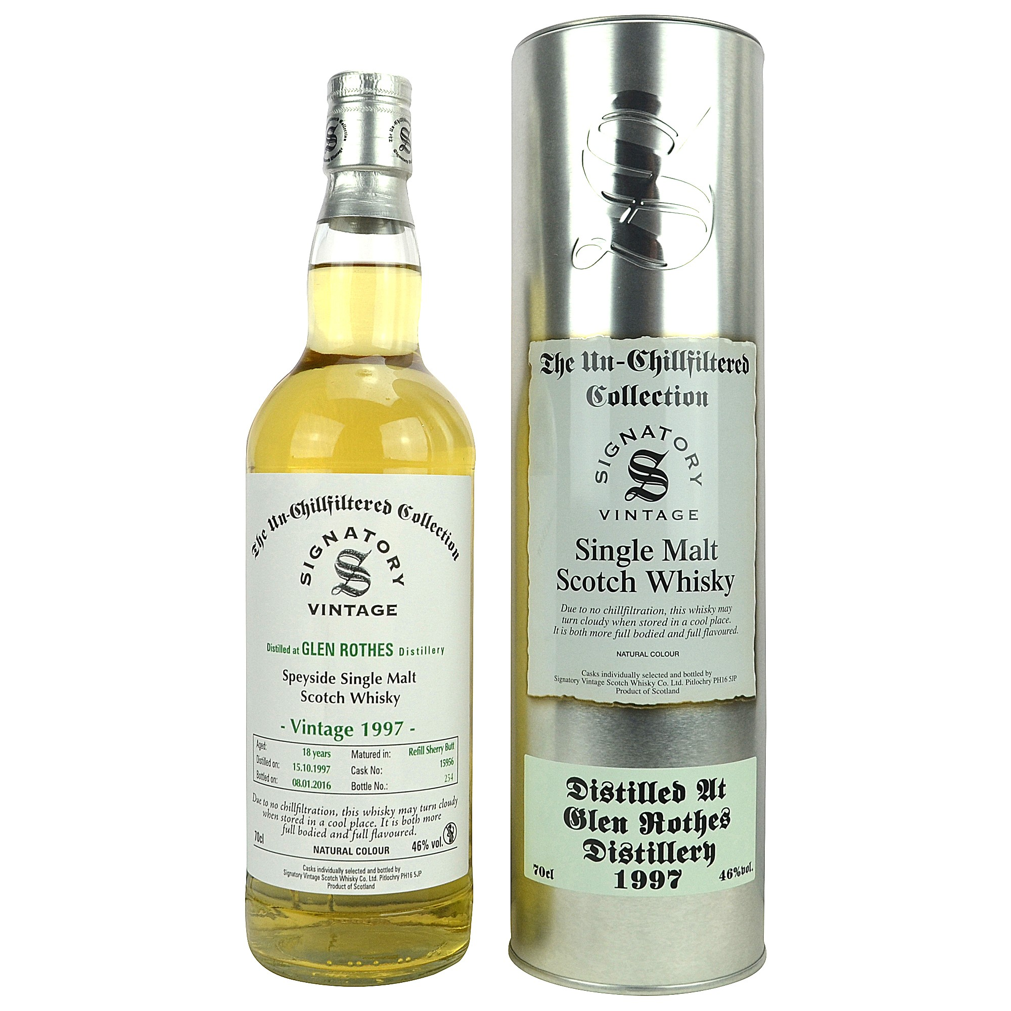 Glenrothes 1997/2016 - Cask No. 15963 (Refill Sherry Butt) - (Signatory Un-Chillfiltered)