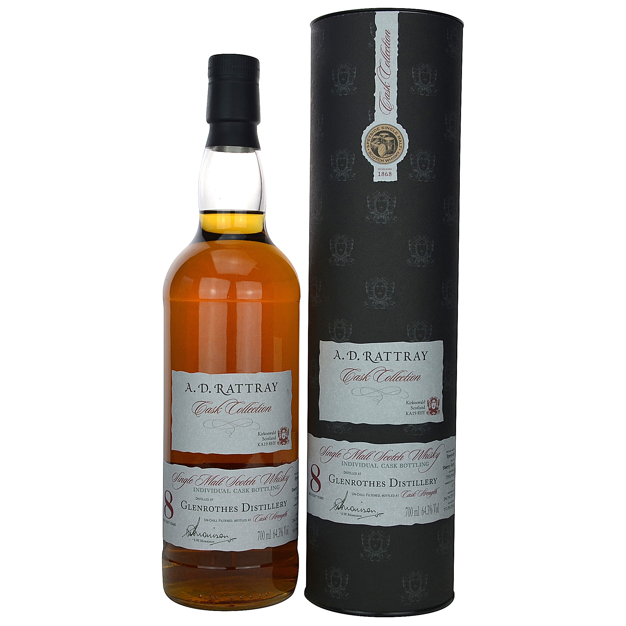 Glenrothes 8 Jahre 2007/2016 Single Cask No. 70010242 (A.D. Rattray)