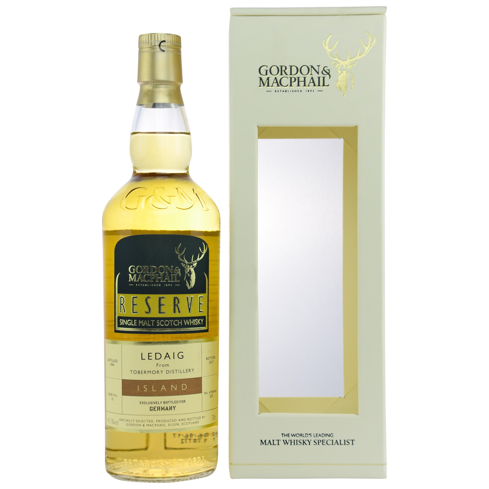 Ledaig 1994/2017 Single Cask No.10 Exclusively Bottled For Germany (G&M)