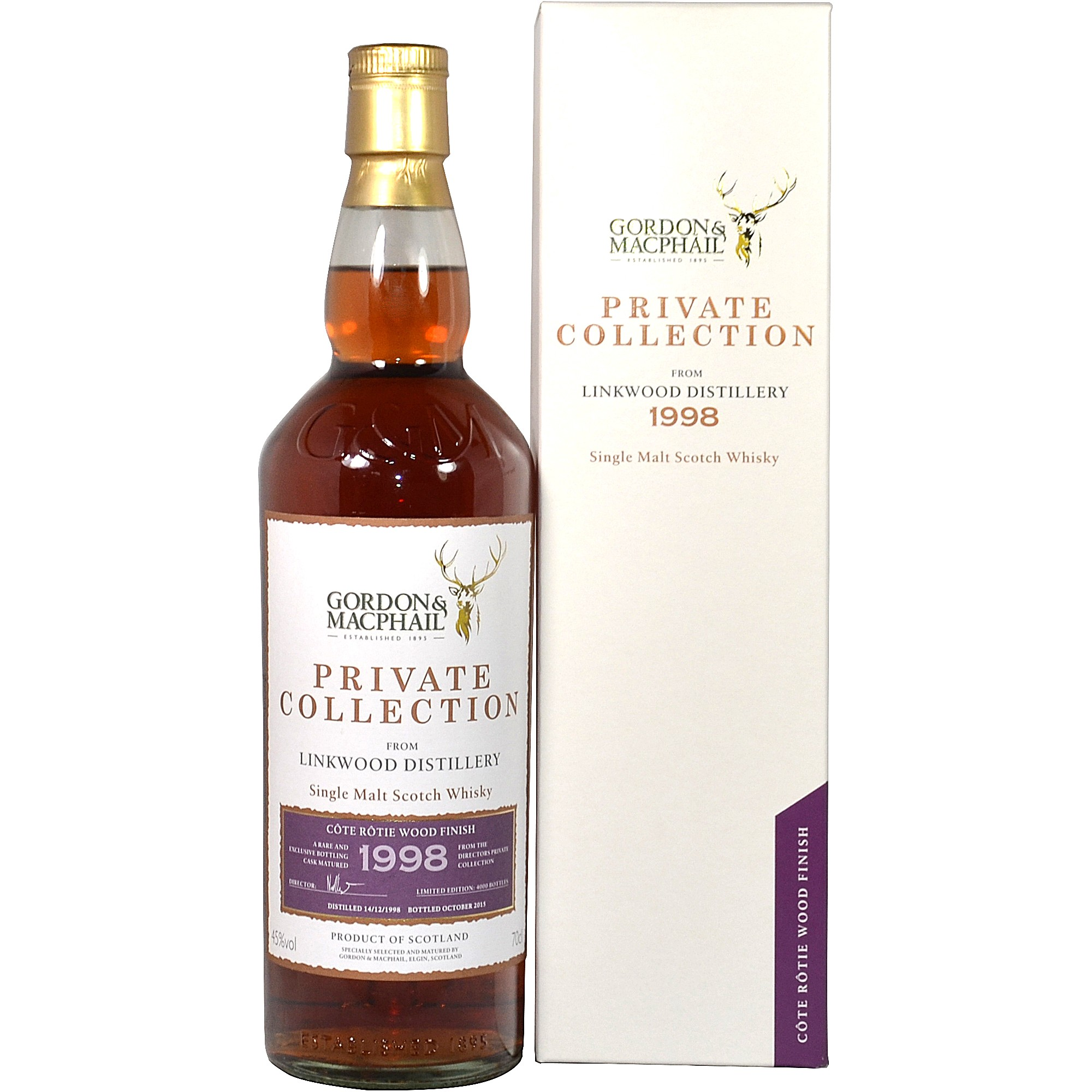 Linkwood 1998/2015 (Gordon & MacPhail Private Collection) Côte Rôtie Wood Finish