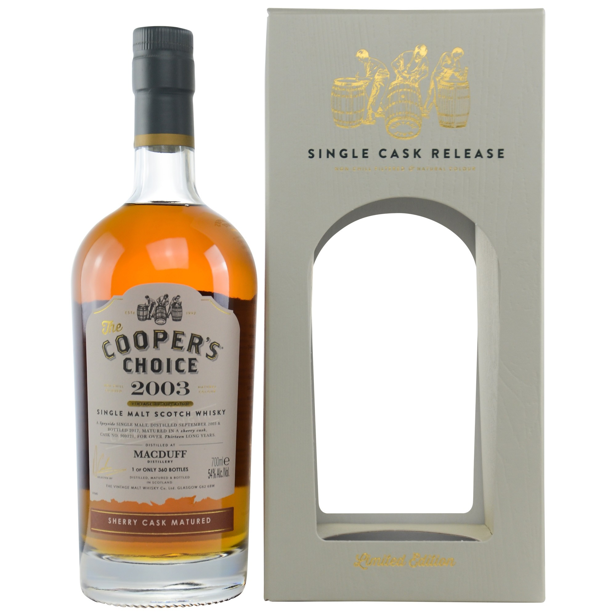 Macduff 2003/2017 Sherry Cask Matured Cask 900221 (Vintage Malt Whisky Company - The Coopers Choice)