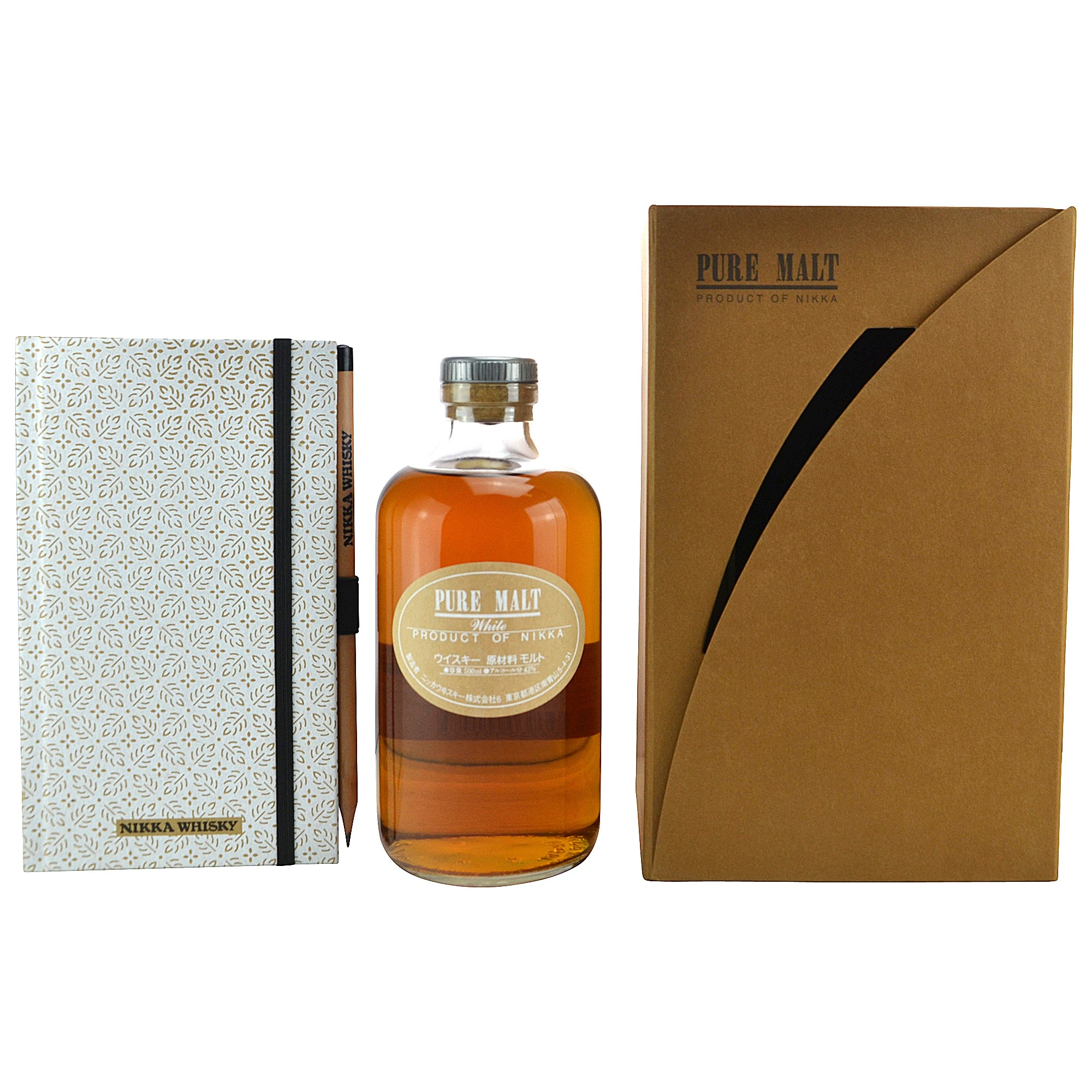 Nikka Pure Malt White Set mit Tasting Notes Buch (Japan)