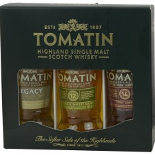 Tomatin Miniaturensortiment (Legacy, 12 Jahre, 14 Jahre Port Finish)