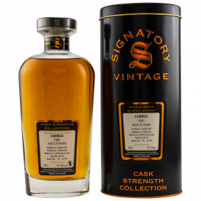 Cambus 1991/2020 29 Jahre Single Grain Refill Sherry Butt No. 34107 (Signatory Cask Strength)