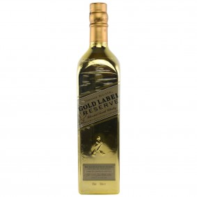 Johnnie Walker Gold Label Reserve mit vergoldeter Flasche