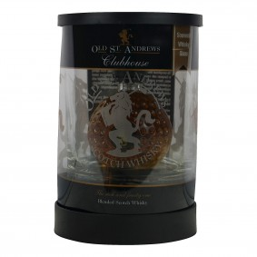 Old St. Andrews Clubhouse Blended Scotch Whisky Miniatur mit Tumbler-Glas (Miniatur)