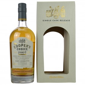 Port Charlotte 2007/2015 Bourbon Cask Matured (Vintage Malt Whisky Company - The Coopers Choice)