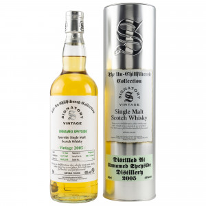 Unnamed Speyside Distillery 2005/2018 13 Jahre Cask No. DRU 17/A10658 (Signatory Un-chillfiltered)