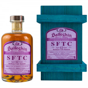 Ballechin 2007/2019 12 Jahre Bordeaux Cask No. 208 (SFTC)