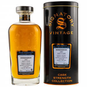 Bunnahabhain 2007/2019 12 Jahre 1st Fill Sherry Butt No. 586 (Signatory Cask Strength)