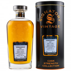 Bunnahabhain 2007/2019 12 Jahre 1st Fill Sherry Butt No. 587 (Signatory Cask Strength)