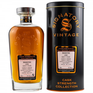 Deanston 2008/2019 11 Jahre 1st Fill Sherry Butt No. 900072 (Signatory Cask Strength)