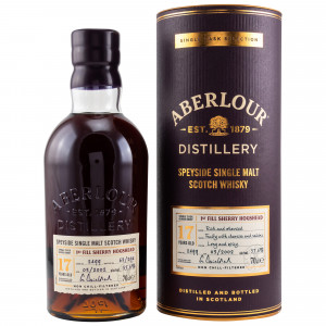 Aberlour 17 Jahre Single 1st Fill Sherry Hogshead Cask No. 2499