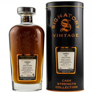 Cambus 1991/2020 28 Jahre Single Grain Refill Sherry Butt No. 34112 (Signatory Cask Strength)