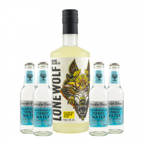 Brewdog Lonewolf Cloudy Lemon Gin & gratis Fever-Tree Mediterranean Tonic