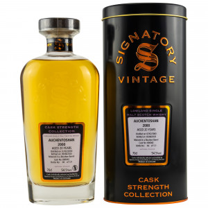 Auchentoshan 2000/2020 - 20 Jahre Bourbon Barrel No. 800042 (Signatory Cask Strength Collection)