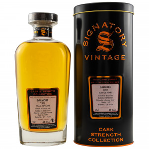 Dalmore 1992/2020 - 28 Jahre Bourbon Barrel No. 1749 (Signatory Vintage Cask Strength Collection)