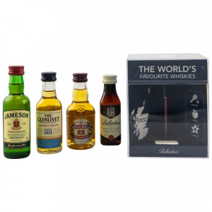 The Worlds Favourite Whiskies Collection (Chivas 12 Jahre / Glenlivet Founders Reserve / Ballantines / Jameson)