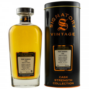 Port Dundas 1996/2020 - 23 Jahre Single Cask No. 128352 (Signatory Cask Strength)