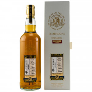 Bunnahabhain 2002/2020 - 17 Jahre Single Sherry Cask No. 383223 Dimensions (Duncan Taylor)