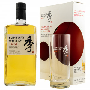 Suntory Toki - Japanese Whisky Set mit Highball Glas