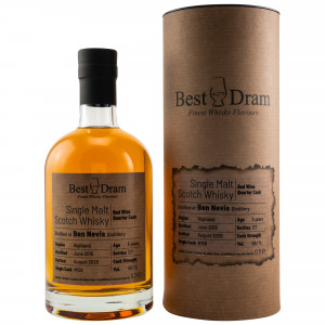 Ben Nevis 2015/2020 5 Jahre Red Wine Quarter Cask 158 (Best Dram)