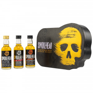 Smokehead Mini Collection 3x 5cl Smokehead Peated, High Voltage, Rum Rebel