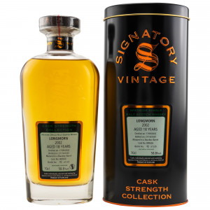 Longmorn 2002/2020 - 18 Jahre Single Bourbon Barrel No. 800626 (Signatory Cask Strenght)