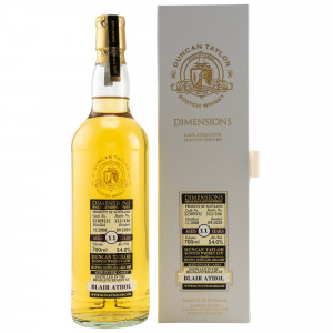 Blair Athol 2008/2020 11 Jahre Dimensions Oak Single Cask No. 32309332 (Duncan Taylor)