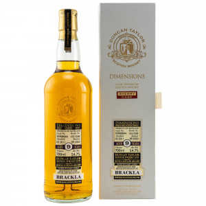 Brackla 2011/2020 - 9 Jahre Single Sherry Cask No. 93900044 Dimensions (Duncan Taylor)