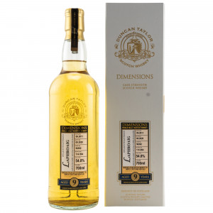 Laphroaig 2011/2020 - 9 Jahre Single Cask No. 56392 Dimensions (Duncan Taylor)