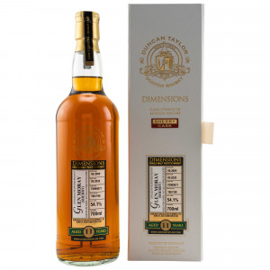 Glen Moray 2009/2020 - 11 Jahre Single Sherry Cask No. 70900071 Dimensions (Duncan Taylor)
