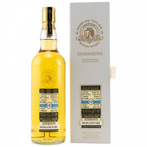 Highland Park 2008/2020 - 12 Jahre Single Cask No. 501712812 Dimensions (Duncan Taylor)