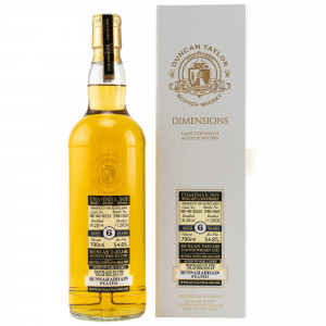 Bunnahabhain Peated 2014/2020- 6 Jahre Single Cask No. 3814010525 Dimensions (Duncan Taylor)