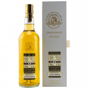 Glen Garioch 2012/2020 - 8 Jahre Single Cask No. 4628813 Dimensions (Duncan Taylor)