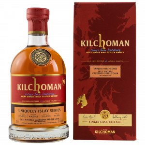 Kilchoman 2013/2020 7 Jahre Bourbon Single Cask Calvados Cask Finish #205/2013 Uniquely Islay Series #1/7