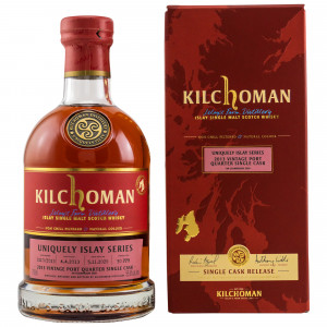 Kilchoman 2013/2020 7 Jahre Bourbon Single Cask Ruby Port Finish Cask #2110/2013 Uniquely Islay Series #2/7