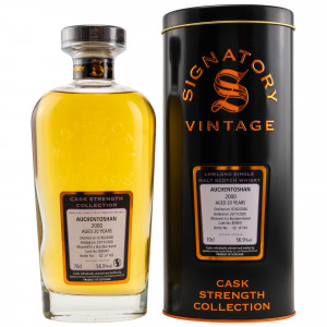 Auchentoshan 2000/2020 - 20 Jahre Bourbon Barrel No. 800041 (Signatory Cask Strength Collection)